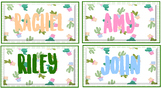 Tropical theme desk/book box labels