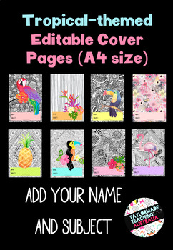 Tropical-themed Cover Pages (Editable)