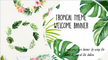 Tropical themed banner