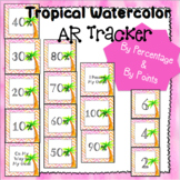 Tropical watercolor AR Tracker - Track by Points or by Percentage!