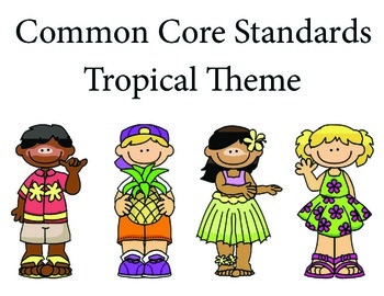 TropicalHawaii 1st grade English Common core standards posters