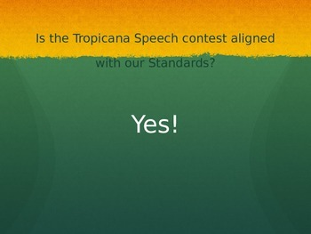 Tropicana Speech info ppt
