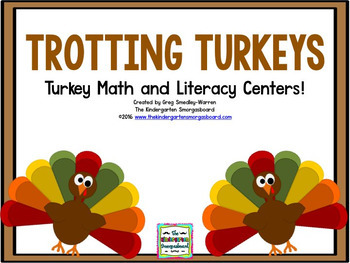 Trotting Turkeys Math And Literacy Centers