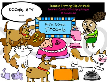 Trouble Brewing Clipart Pack