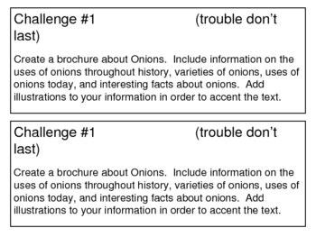 """""""Trouble Don't Last"""", by S. Pearsall, Project Challenges"""