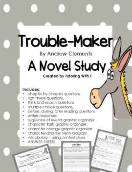 Trouble-Maker by Andrew Clements Novel Study