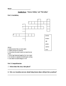 Trouble River Comprehension and Vocabulary Packet