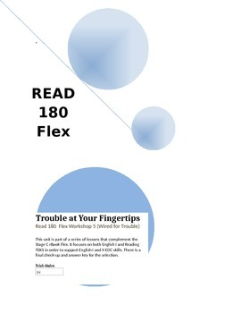 Trouble at Your Fingertips - Read 180 (Workshop 5)