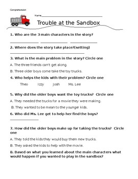 ReadyGen's Trouble at the Sandbox Comprehension