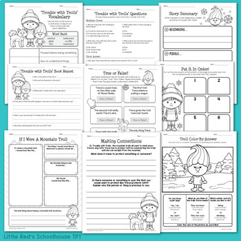 Trouble with Trolls Worksheet Packet