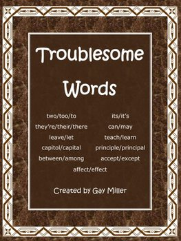 Troublesome Words Bundled