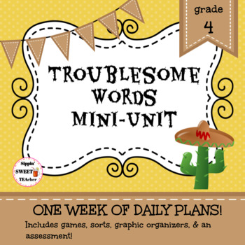 Troublesome Words Mini Unit (includes their/there/they're, too/to/two, & more)