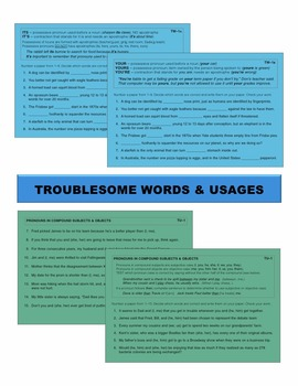 Troublesome Words & Usages Task Cards