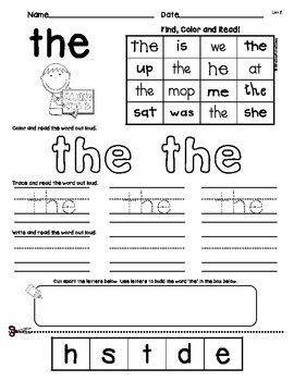 Troubling TRICK WORDS!!  A First Grade Word Study Pack!