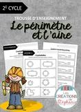Trousse d'enseignement : Le périmètre et l'aire FRENCH MAT