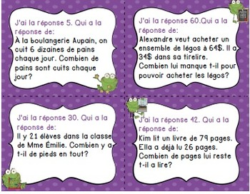 Trousse de résolution de problèmes/ French word maths problems kit