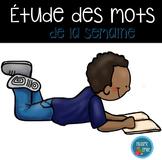 FRENCH word work study kit/ Trousse d'étude des mots de la semaine
