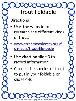 Trout Foldable: A Research Writing Project