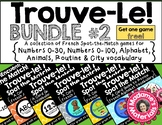 Trouve-Le Bundle #2! French Spot the Match Games for Vocabulary Review