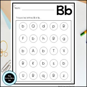 Trouve et Colorie Les Lettres de L'Alphabet | French Search and Find Alphabet