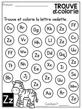 Trouve et colorie - les lettres de l'alphabet (FRENCH Alphabet Find & Colour)