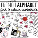 Trouve et colorie - les lettres de l'alphabet (FRENCH Alph