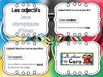 Trouve l'adjectif - Cartes à tâches - JEUX OLYMPIQUES D'HIVER