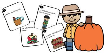 Trouve l'adjectif - L'automne 24 cartes à tâches