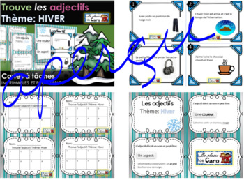 Trouve l'adjectif - Thème HIVER - IMRPIMABLE ET PROJETABLE - (French - FSL)