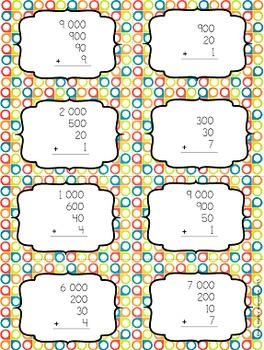 Trouve la paire: jeu de représentation de nombres jusqu'à 10 000