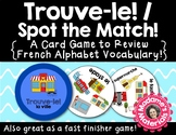 Trouve-le: La Ville! A Spot the Match Game for French Places in Town Vocabulary