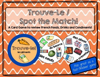 Trouve-le: Les Aliments! A Spot the Match Game for French Food Vocabulary