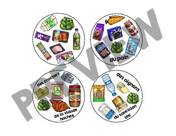 Trouve-le: Les Aliments! A JUMBO Spot the Match Game for French Food Vocabulary
