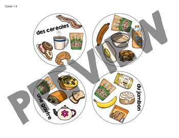 Trouve-le: Petit déjeuner! A Spot the Match Game for French Breakfast Vocabulary