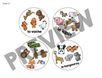Trouve-le: les animaux! A Spot the Match Game for French Animal / Pet Vocabulary