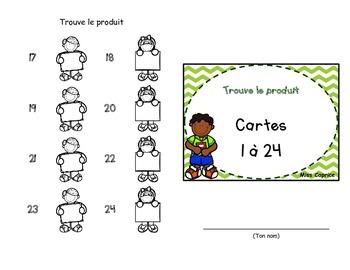 Trouve le produit - Cartes à tâches - 2e cycle