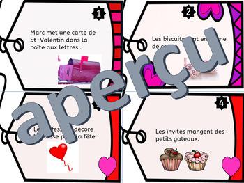 Trouve le verbe - Cartes à tâche - Thème:La Saint-Valentin FRENCH FSL Task Cards