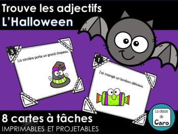 Trouve les adjectifs - L'Halloween - Cartes à tâches