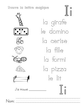 Trouve les voyelles - French word work find the vowels activities