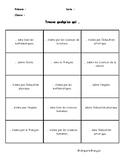 Human Bingo / Trouve quelqu'un qui ... (school subjects /