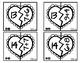 Trouve ta moitié / nombre 3 à 20 Valentine Puzzles