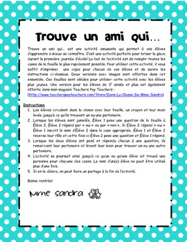 Trouve un ami qui... (Find Someone Who... in French)