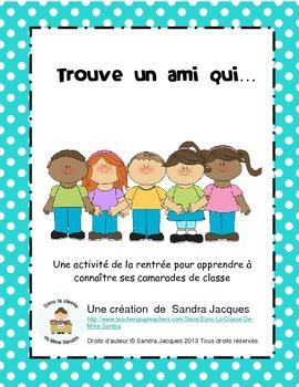 Trouve un ami qui... (Find Someone Who... in French)