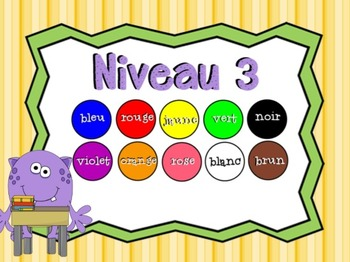 Trouvez Le Monstre: A SMART Board French Color Review Game
