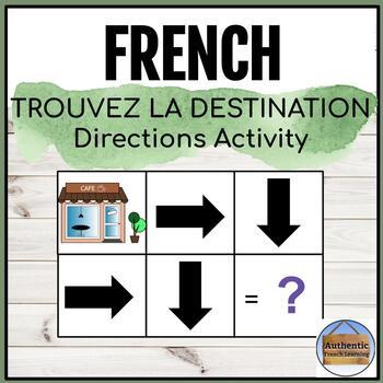 Trouvez la destination - French Directions Activity