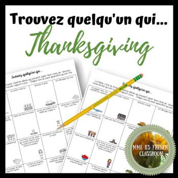 Trouvez quelqu'un qui: Thanksgiving