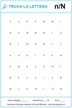 Trova la lettera (900+ schede) / Find the letter (900+ worksheets)