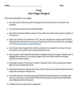Troy One-Pager Project