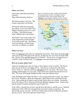 Troy, The Siege of, story with exercises