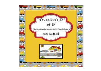 Truck 'Buddies of 10' – Display Cards/Room Scoot/Worksheets C/C Aligned